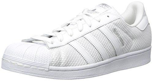 adidas Originals Men's Superstar Fashion Sneaker, White/White/White, 11 M US