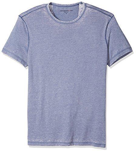 John Varvatos Star USA Men's Short Sleeved Crewneck, Atlantic Blue, Extra Large