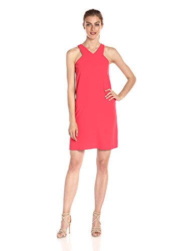 A|X Armani Exchange Women's X Neck Line Above The Knee Dress, Coral, 6
