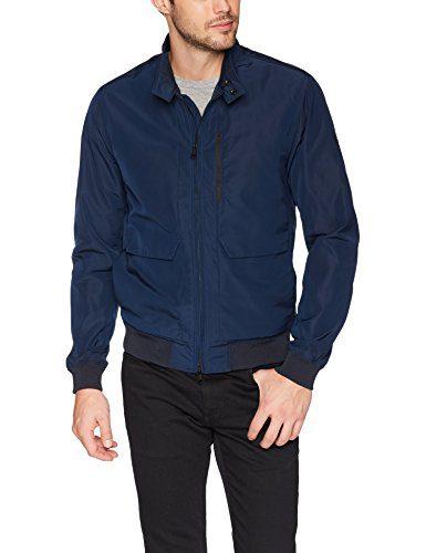 J.Lindeberg Men's Water Repellent Memo Jacket, JL Navy, X-Large