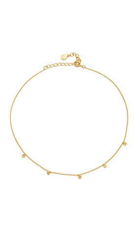 Gorjana Women's 5 Disc Choker Necklace, Gold, One Size