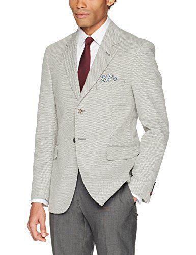 Robert Graham Men's Marty Tailored Fit Sportcoat, Grey, 44