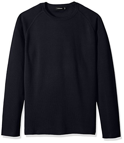 J.Lindeberg Men's Cotton Crewneck Sweater, JL Navy, X-Large