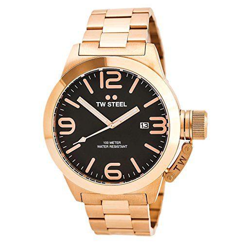 TW Steel Men's CB172 Analog Display Quartz Rose Gold Watch