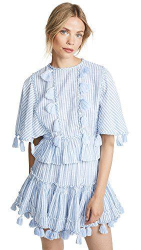 Misa Women's Seta Top, Blue Stripe, X-Small