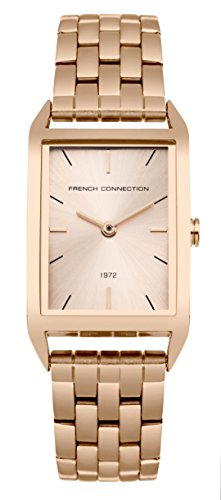 French Connection Women's Quartz Metal and Stainless Steel Casual Watch, Color:Rose Gold-Toned (Model: FC1296RGM)