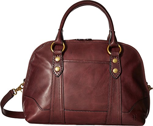 FRYE Melissa Domed Satchel, Wine Smooth Leather