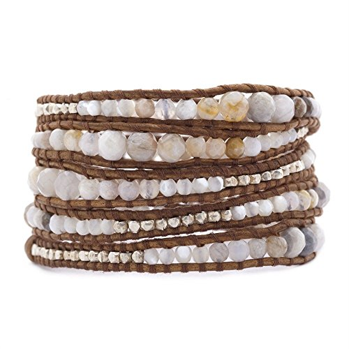 Chan Luu Graduated African Opal Mix Wrap Bracelet