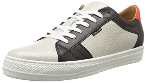Marc Jacobs Men's Calf Leather 80NY Red Detail Fashion Sneaker, Silver, 41 EU/7 M US