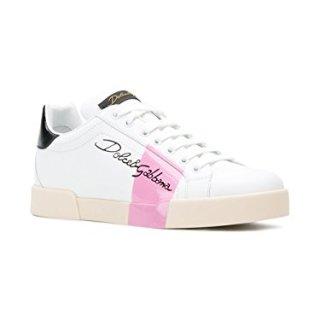 Dolce e Gabbana Women's White Leather Sneakers