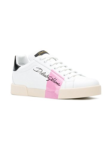 Dolce e Gabbana Women's White Leather Sneakers