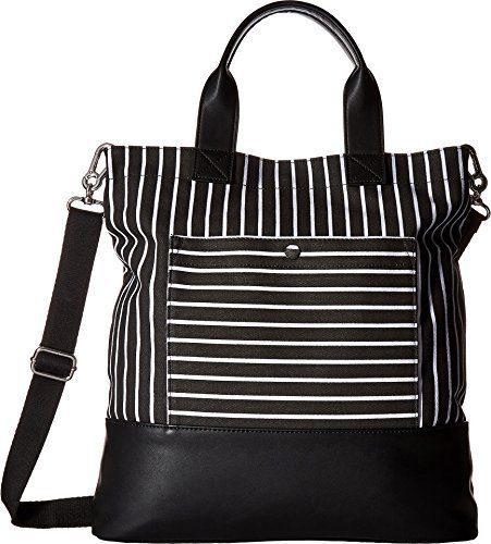 French Connection Women's Mel Tote Black Stripe Handbag