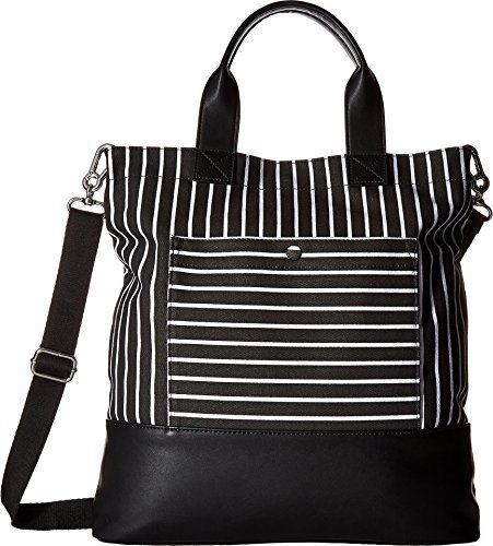 French Connection Women's Mel Tote Black Stripe Handbag