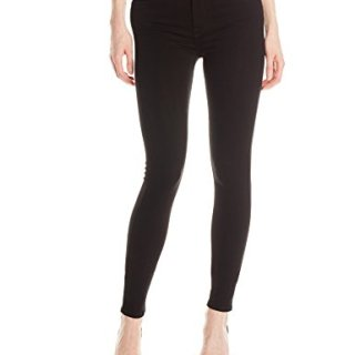 7 For All Mankind Women's High-Waist Slim Illusion Skinny with Contour Waistband Jean, Luxe Black, 29