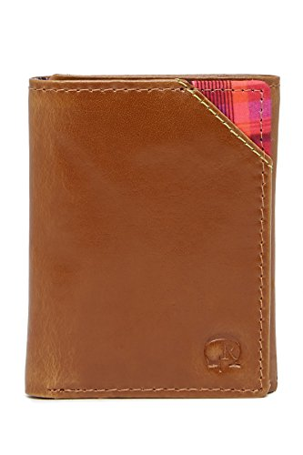 Robert Graham Men's Derby Leather RFID Trifold Wallet, One Size, Tan
