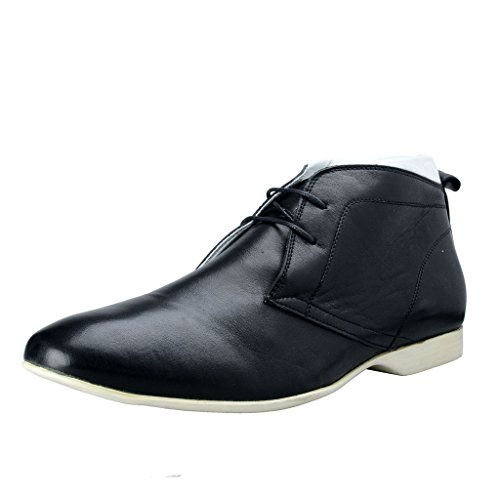 Versace Collection Men's Black Leather Lace Up Ankle Boots Shoes US 11 IT 44;