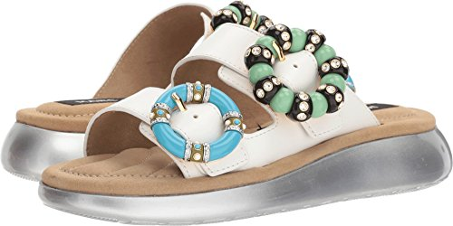 Marc Jacobs Women's Sage Embellished Slide Sandal, Ivory, 38 M EU (8 US)