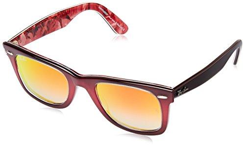 6b80dc77cf Ray-Ban WAYFARER - TOP GRAD PINK ON BROWN Frame MIRROR GRADIENT RED Lenses  50mm