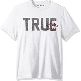 True Religion Men's True Slogan Tee, Optic White, M