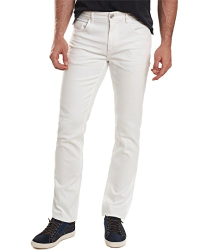Robert Graham Men's Palin Tailored Fit Denim, White, 36