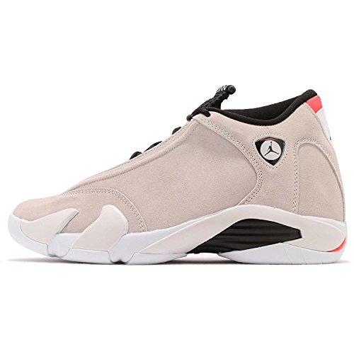 NIKE Jordan Men's Air 14 Retro, Desert Sand/Black-White, 10 M US