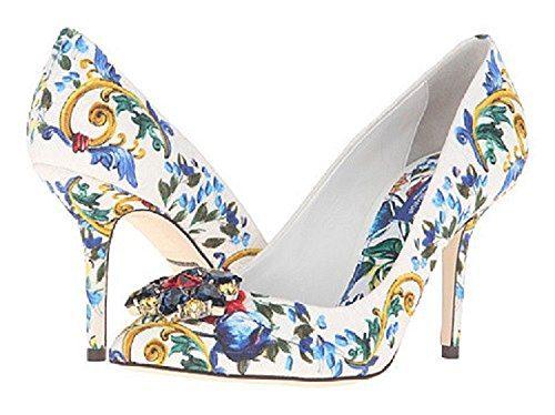 Dolce & Gabbana Women's Floral and Baroque Print Heels, US 8.5/EU 39