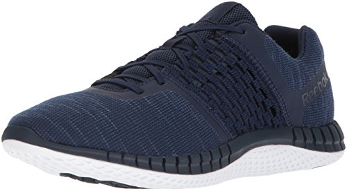 Reebok Men's Print Run Dist Sneaker, Coll. Navy/White/Steel, 8 M US
