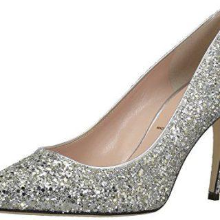 Kate Spade New York Women's Vivian Pump, Silver/Gold Glitter, 7.5 M US