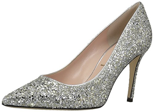 Kate Spade New York Women's Vivian Pump, Silver/Gold Glitter, 7.5 M US