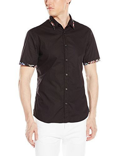 Just Cavalli Men's Nitik Printed Sweat Shirt,Black,48
