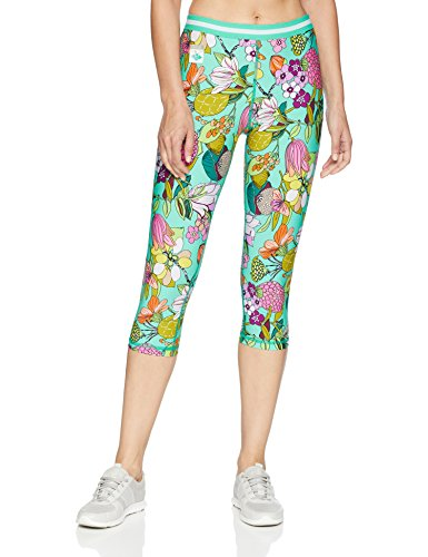 Trina Turk Recreation Women's Hybrid Active Capri Leggings, Aqua, Large