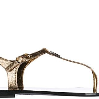 Dolce & Gabbana Women's Leather Sandals Gold US Size 6