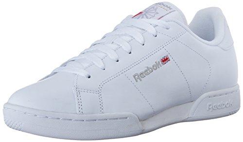 Reebok Men's Npc Ii Fashion Sneaker, white/light grey, 7.5 M US
