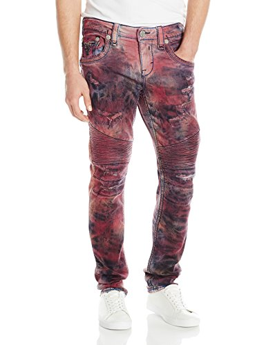 Rock Revival Men's Skinny Fit Jeans, Tdy Red, 36