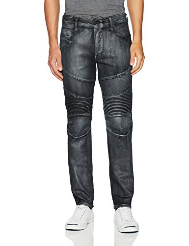 True Religion Men's Rocco Classic Moto Jean2, Platinum Nights, 32