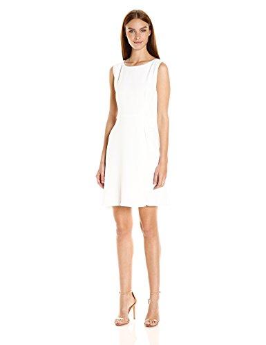 A X Armani Exchange Women's Sleeveless 'Faux Belt Dress, Cristallo, 8