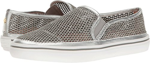 Kate Spade New York Women's Sallie, Silver Metallic Mesh/Nappa, 5 M