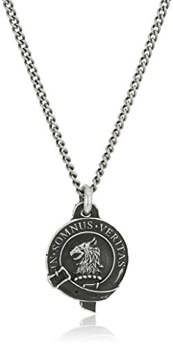 Pyrrha Unisex Eagle Honor Badge Unisex Sterling Silver Pendant Necklace, 22""
