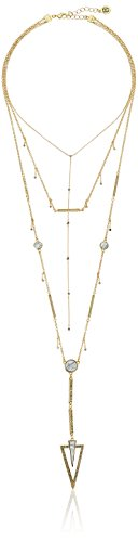 """House of Harlow South Point Howlite Layered Strand Necklace, 14"""" + 2"""" Extender"""