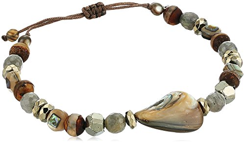 Chan Luu Abalone Mix Adjustable Strand Bracelet