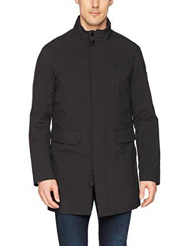 J.Lindeberg Men's Waterproof Stretch Coat, Black, X-Large
