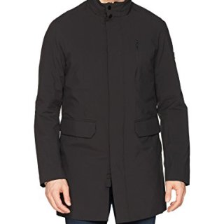 J.Lindeberg Men's Waterproof Stretch Coat, Black, X-Large