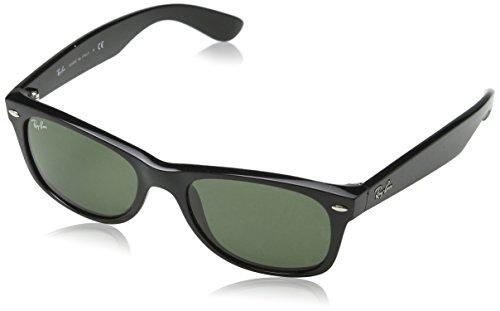 Ray-Ban Men's New Wayfarer Square Sunglasses, Black, 52 mm