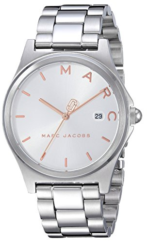 Marc Jacobs Women's 'Henry' Quartz Stainless Steel Casual Watch, Color Silver-Toned (Model: MJ3583)