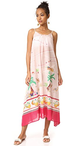 Kate Spade New York Women's Orangerie Cover Up Maxi Dress, White, X-Small