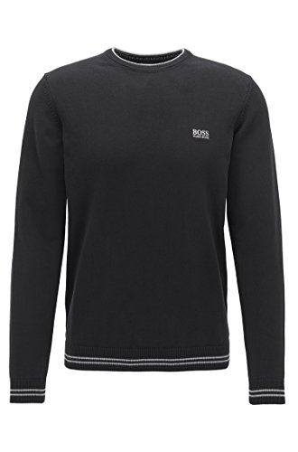 Hugo Boss Men's Sweater Crew Neck (Black, XXL)