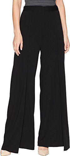 Michael Stars Women's Rylie Rayon Wide Leg Tulip Pants Black Medium