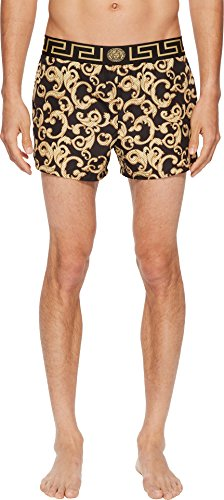 Versace Men's Barocco Net Short Trunk Black/Gold 6