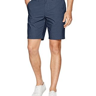 "Original Penguin Men's 9"" Poplin Cross Hatch Short, Dress Blues, 36"