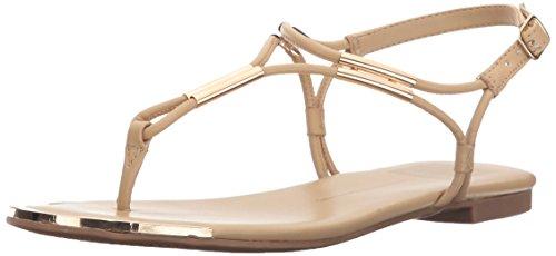 Dolce Vita Women's Marly Flat Sandal,Nude,8.5 B(M) US